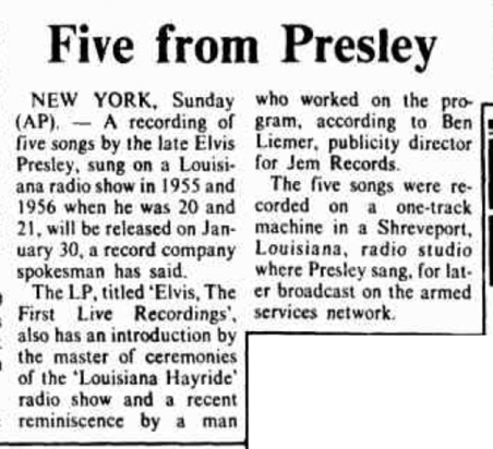 Image result for elvis presley january 23