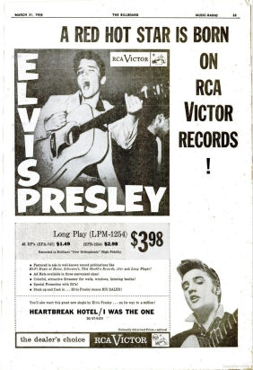 Image result for billboard march 31, 1956 elvis