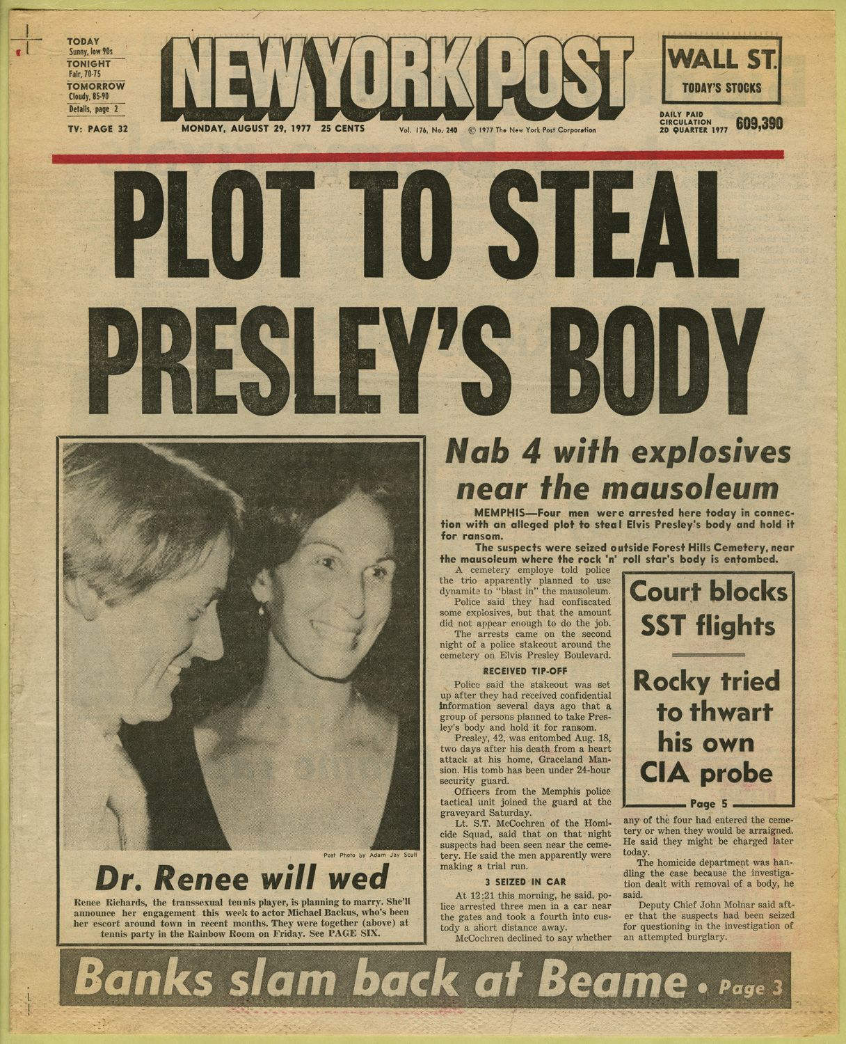 The Elvis Body Theft Plot | Our Daily Elvis